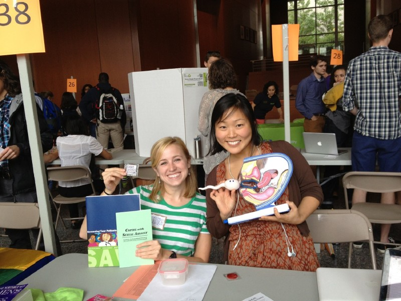 Students at activity fair